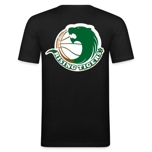 logo rising tigers farbig - Männer Slim Fit T-Shirt