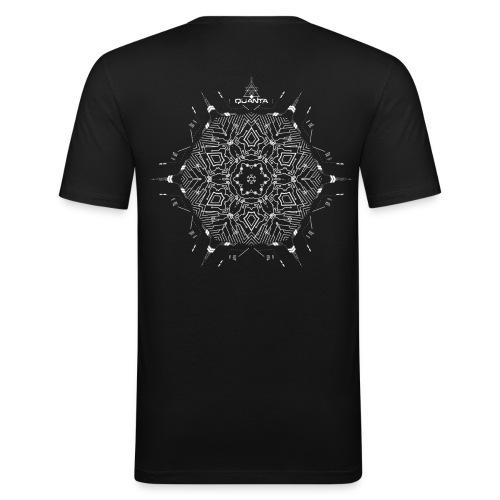 quanta music tshirt design last - Men's Slim Fit T-Shirt