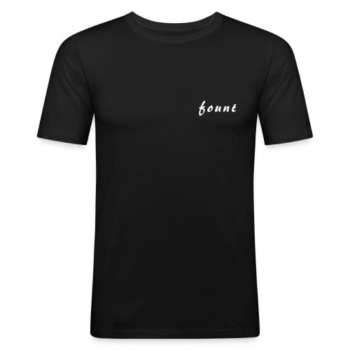 fount schriftzug - Männer Slim Fit T-Shirt