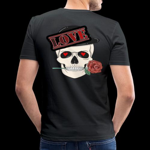 Skull Love - Männer Slim Fit T-Shirt