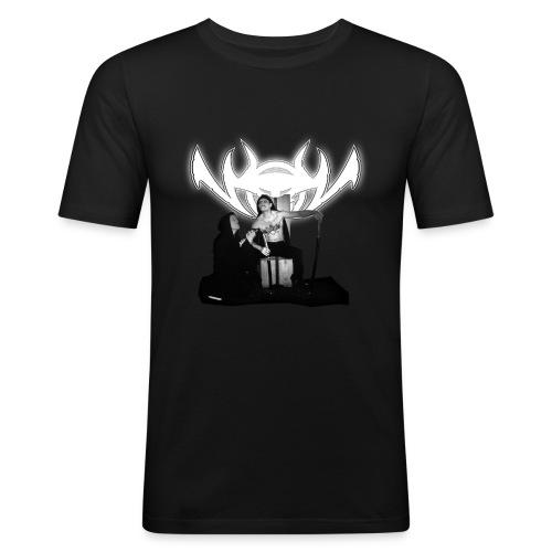 NinjaLiebe White - Männer Slim Fit T-Shirt