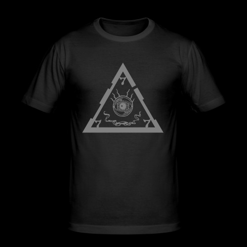 Unholy (logo + triangle-symbol_gray) - Men's Slim Fit T-Shirt