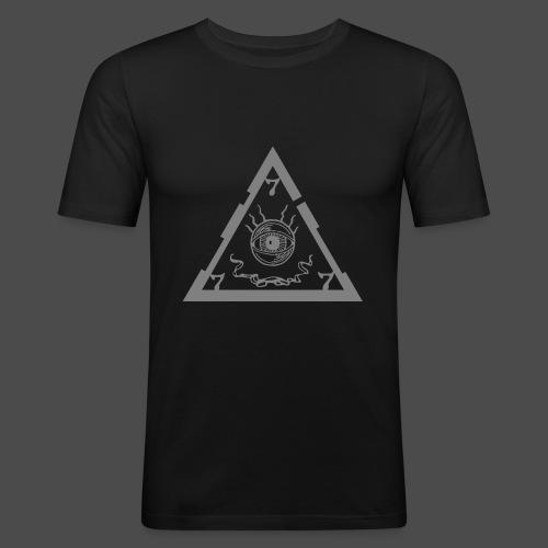 Unholy (logo + triangle-symbol_gray) - Men's Slim Fit T-Shirt