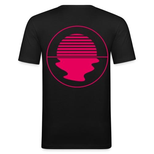 Noctunal Logo Hotpink - Mannen slim fit T-shirt