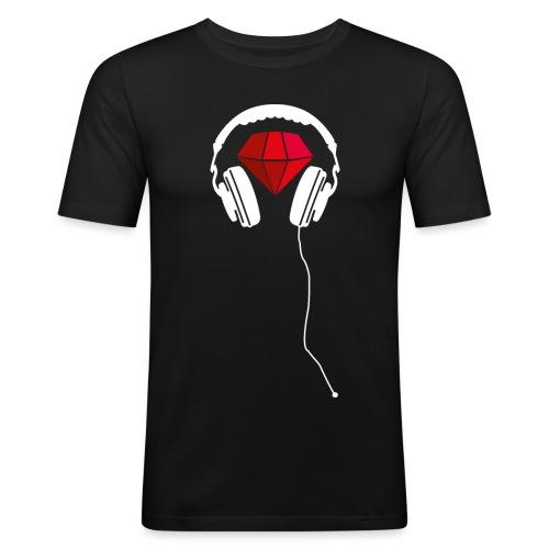 Rotweis Kopfhörer png - Männer Slim Fit T-Shirt