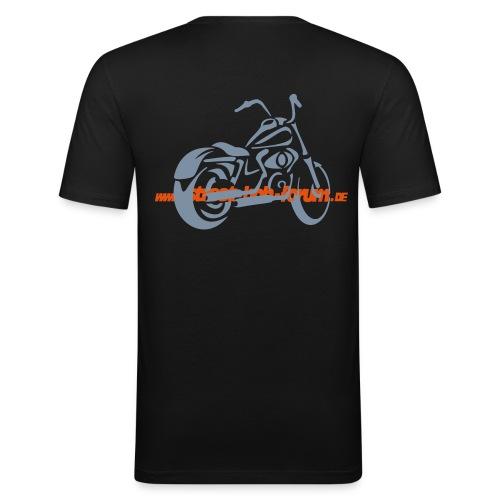 harley street bob ohne fuer spread - Männer Slim Fit T-Shirt