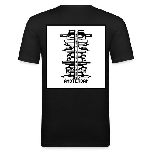 liberty city records amsterdam 1 - Mannen slim fit T-shirt