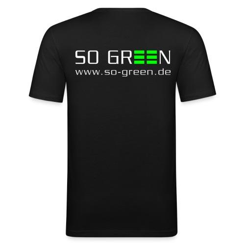 pfade logo so green klein01 - Männer Slim Fit T-Shirt