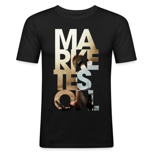 LA 12 Text - Men's Slim Fit T-Shirt