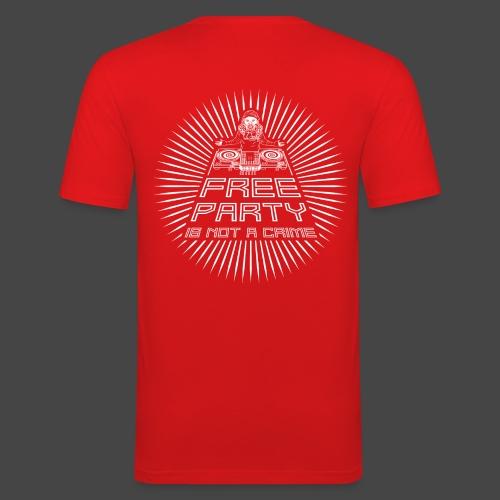 free party n'est pas un crime tekno 23 - T-shirt près du corps Homme