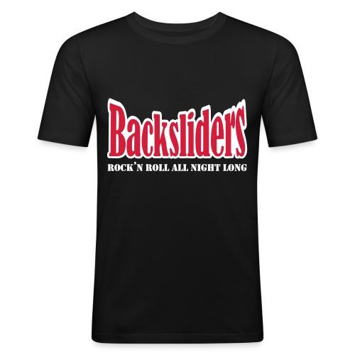 uusi logo - Miesten tyköistuva t-paita