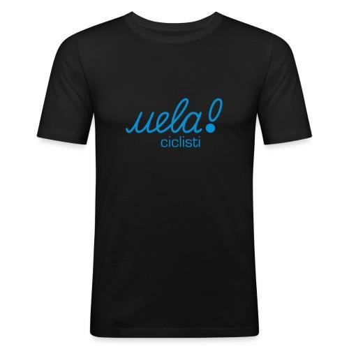 uela ciclisti gruen eurostile - Männer Slim Fit T-Shirt