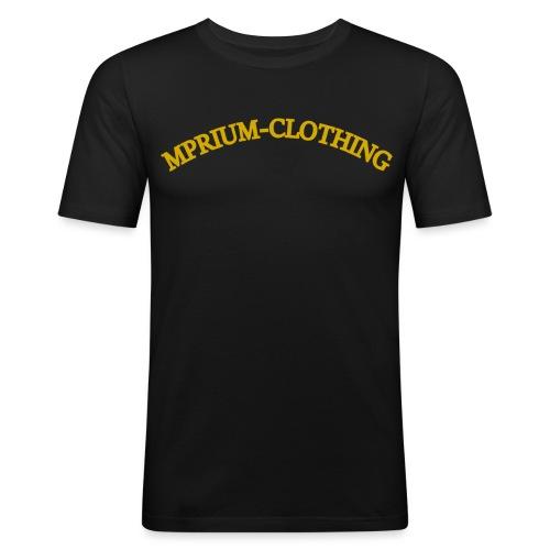 gold gekrümmt mprium png - Männer Slim Fit T-Shirt