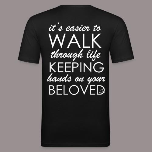 Rakkaus - Miesten tyköistuva t-paita