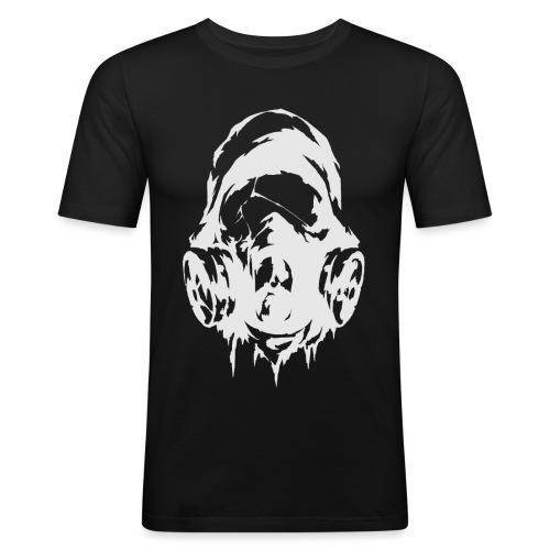 ST Mask Lightgrey ohne text png - Männer Slim Fit T-Shirt