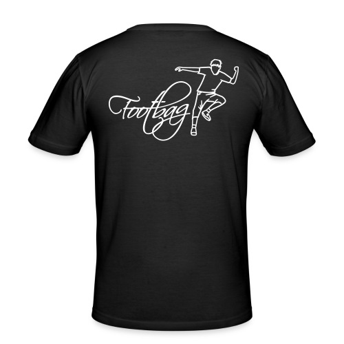 player1 logo v07 final - Männer Slim Fit T-Shirt
