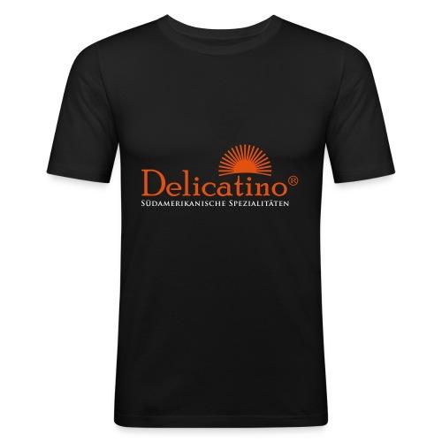 Delicatino Logo - Männer Slim Fit T-Shirt