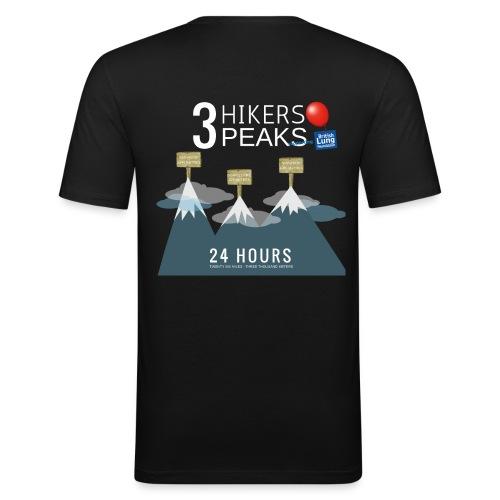 3 Hikers 3 Peaks - Men's Slim Fit T-Shirt