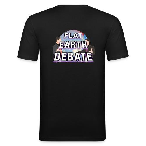Flat Earth Debate Solid - Men's Slim Fit T-Shirt
