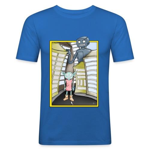RoboterTshirt png - Männer Slim Fit T-Shirt