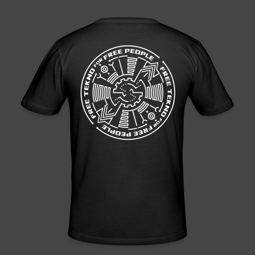 Tekno gratuit pour les personnes libres - T-shirt près du corps Homme