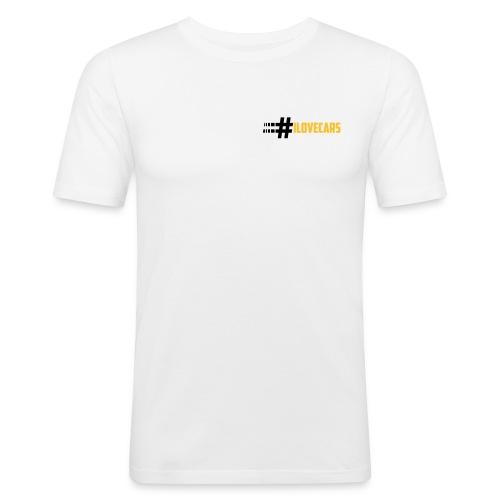 LogoB_black - Männer Slim Fit T-Shirt