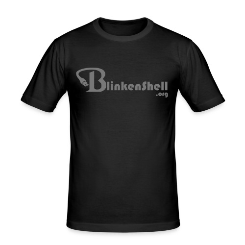 blinkenshell_shirt2_grey - Men's Slim Fit T-Shirt