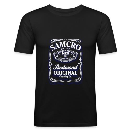 front chest samcro 2012010602 - Men's Slim Fit T-Shirt