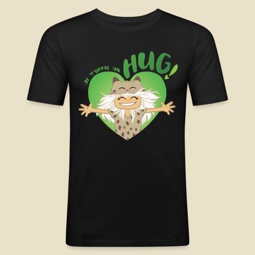 Janou t'offre un hug! - T-shirt près du corps Homme