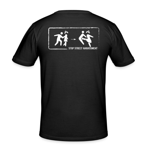 Stop street harassment: We don't touch! - Men's Slim Fit T-Shirt