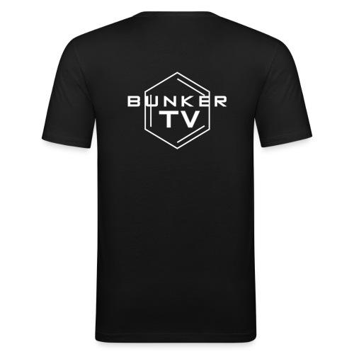 BunkerTV Logo 2 - Männer Slim Fit T-Shirt