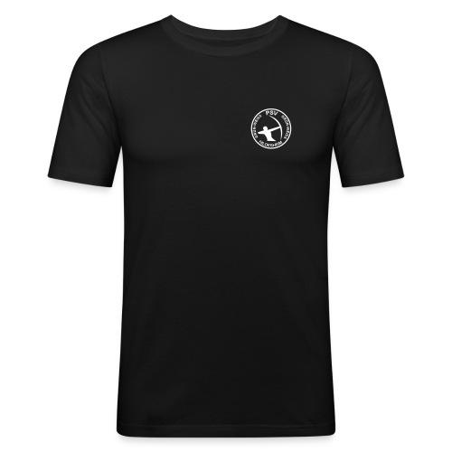 PSV Bogensport Logo rund - Männer Slim Fit T-Shirt