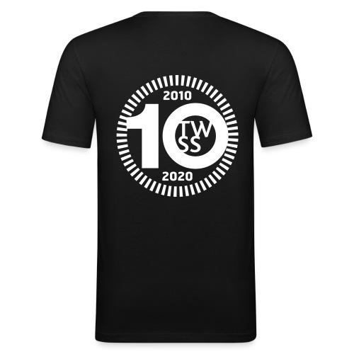 TWSS 10-jähriges Jubiläumslogo - Männer Slim Fit T-Shirt