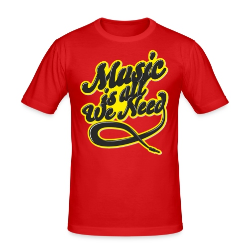 Music Is All We Need - Men's Slim Fit T-Shirt