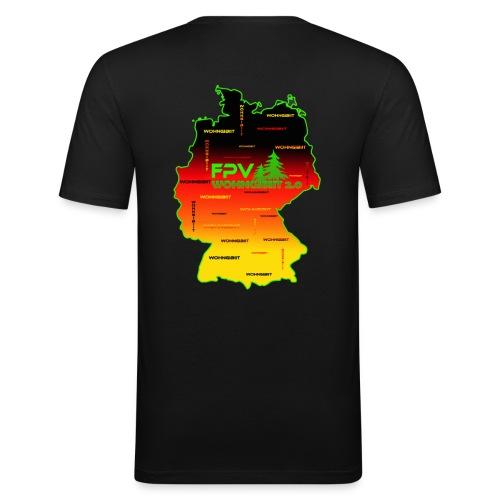 überall wohngibiit - Männer Slim Fit T-Shirt