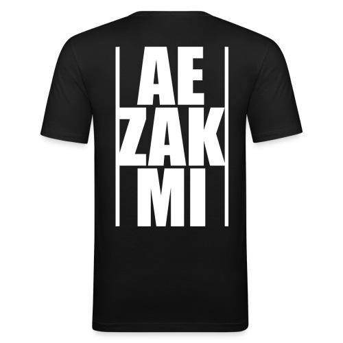 AEZAKMI-white, back - Obcisła koszulka męska