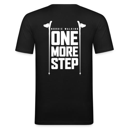 Nordic Walking - One more step - Miesten tyköistuva t-paita