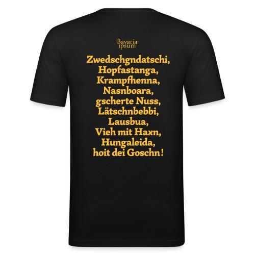 Bayrische Schimpfwörter Nr.3 - Männer Slim Fit T-Shirt