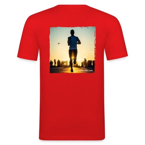 Läufer c Laufcoaches com png - Männer Slim Fit T-Shirt