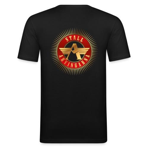 Stall Arvingarna-logo - Slim Fit T-shirt herr