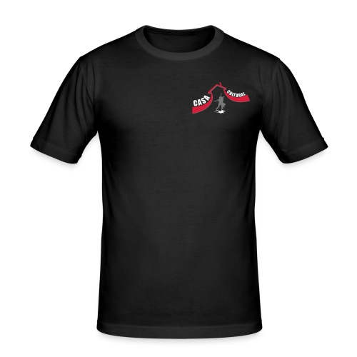 logo ccb paar grau - Männer Slim Fit T-Shirt