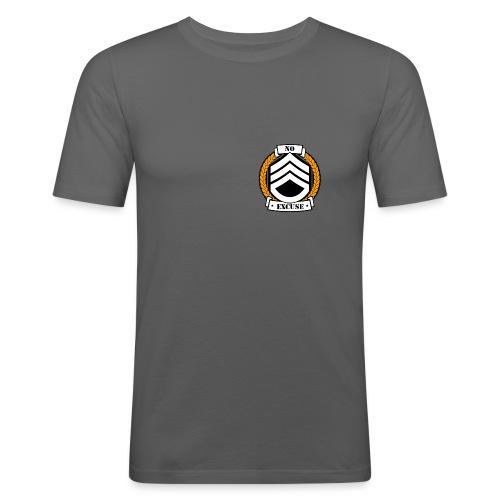 No excuse logo jaune png - T-shirt près du corps Homme