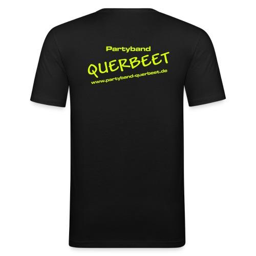 Querbeet new yellow - Männer Slim Fit T-Shirt