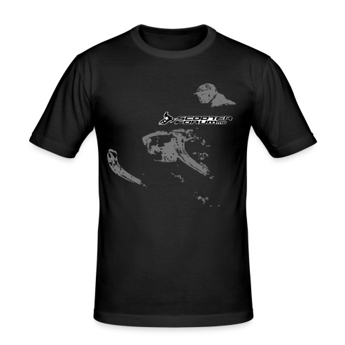 Snowmobile illustration - Slim Fit T-skjorte for menn