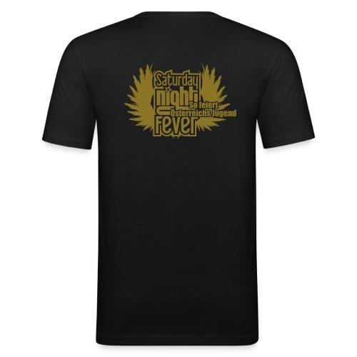 25cm breite snf logo - Männer Slim Fit T-Shirt
