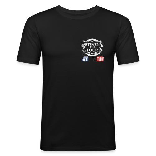 T Shirt Logo unsichtbar weiß FB YT png - Männer Slim Fit T-Shirt