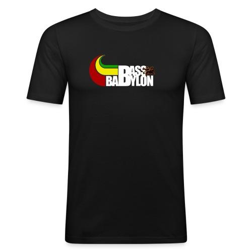bass babylon logo weiss weiss - Männer Slim Fit T-Shirt