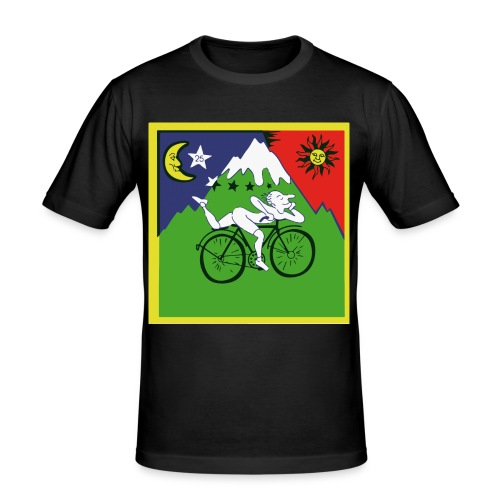 Bicycle Day - Männer Slim Fit T-Shirt