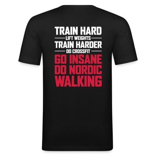 Nordic Walking - Go Insane - Miesten tyköistuva t-paita