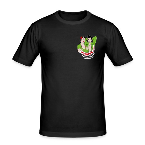 VCorps Logo PinUps - Mannen slim fit T-shirt